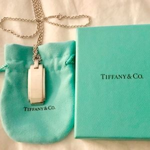 Tiffany & Co. - Silver - Dog Tag Pendant Necklace
